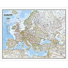 Europe Political Wall Map
