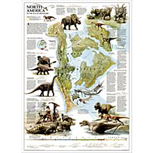 Dinosaurs of North America Wall Map