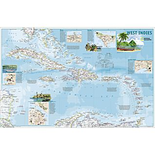 West Indies Traveler Map