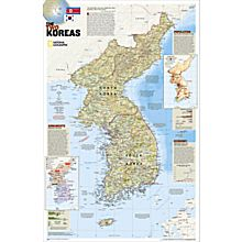 The Two Koreas Wall Map