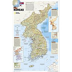 The Two Koreas Map