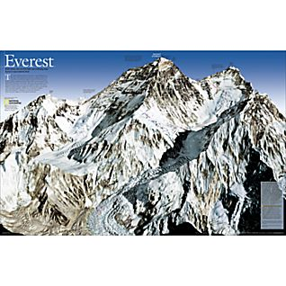 Mount Everest 50th Anniversary 2-sided Thematic Map