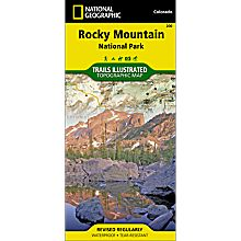Trails in Rocky Mountain National Park Map