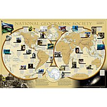 World of the National Geographic Society Map
