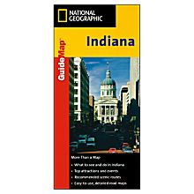 Indiana Guide Travel and Hiking Map