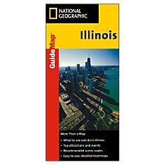Illinois Guide Travel and Hiking Map