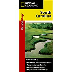 South Carolina Guide Travel and Hiking Map