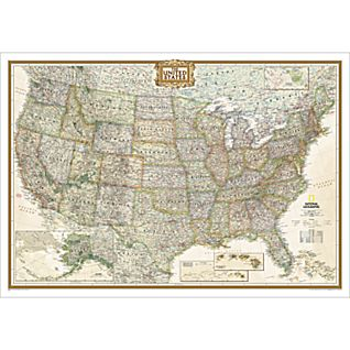 View U.S. Political Map (Earth-toned), Laminated image