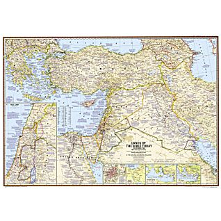 Lands of the Bible Map