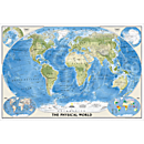 World Physical and Ocean Floor Map, Laminated