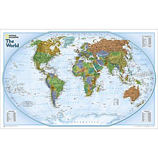 World Explorer Map, Laminated