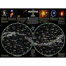 The Heavens Wall Map, Laminated