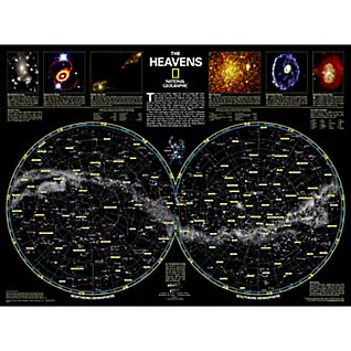 View The Heavens Map, Laminated image