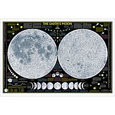 The Earth's Moon Wall Map, Laminated