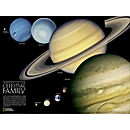 The Solar System: 2-sided Wall Map, Laminated