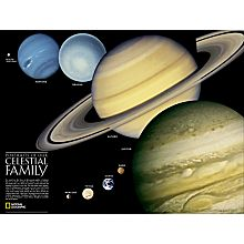 Solar System and Celestial Family Wall Map, Laminated