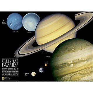 View Solar System and Celestial Family Map, Laminated image