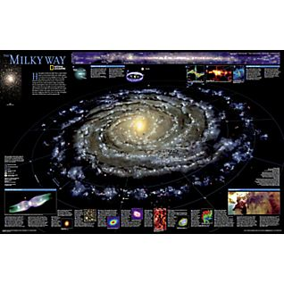 The Milky Way Wall Map, Laminated