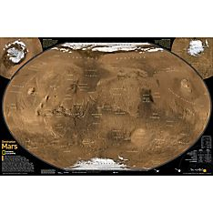 Destination Mars Map, Laminated