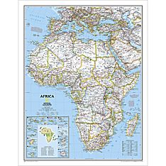 Africa Political Wall Map, Laminated
