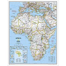 Africa Political Wall Map, Enlarged and Laminated