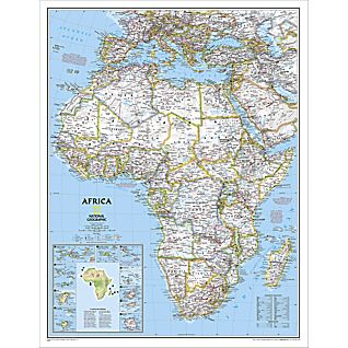 Africa Political Map, Enlarged and Laminated