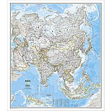Asia Political Wall Map, Laminated