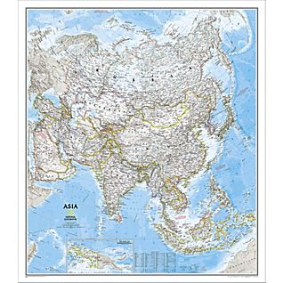 Asia Political Map, Laminated