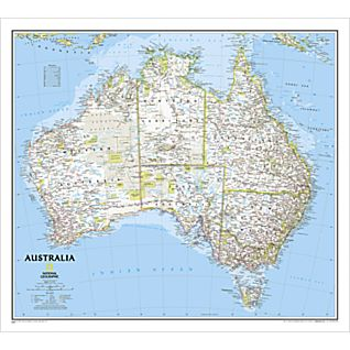 Australia Classic Wall Map, Laminated