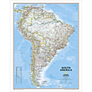 South America Political Map, Laminated