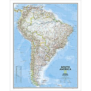 View South America Political Map, Laminated image