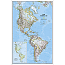 The Americas Classic Wall Map, Laminated