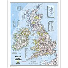 British Isles Political Map, Laminated, 2006