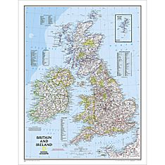 British Isles Political Map, Laminated