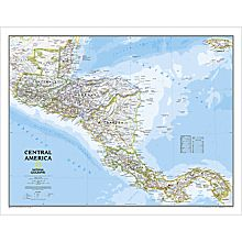 Central America Political Map, Laminated, 2006