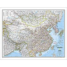 China Political Map, Laminated