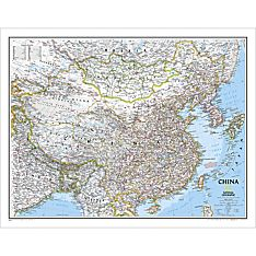 China Political Map, Laminated, 2005