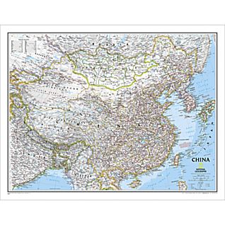 View China Political Map, Laminated image