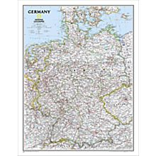 Germany Political Wall Map, Laminated