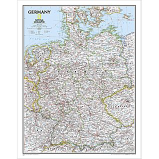 Germany Political Map, Laminated