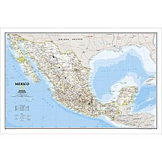 Mexico Political Map, Laminated