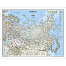 Russia Political Map, Laminated