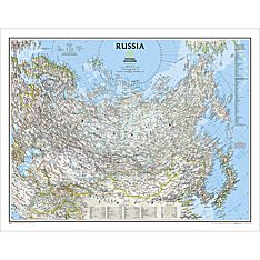 Russia Political Wall Map, Laminated