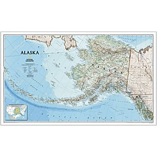Alaska Political Map, Laminated