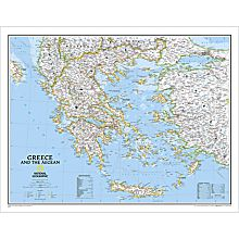 Greece Political Wall Map, Laminated