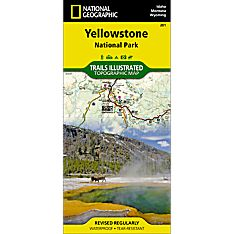 Yellowstone National Park Hiking Trail Map