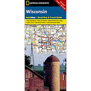 National Geographic Wisconsin Map