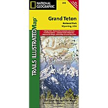 202 Grand Teton National Park Trail Map, 2008
