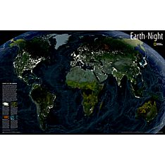 Earth at Night Wall Map