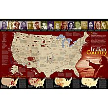 North American Indian Reference Map, 2004